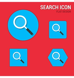 Search icon flat design vector