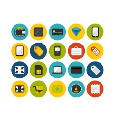 Flat icons set 9 vector