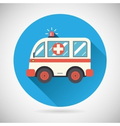 Ambulance car icon health treatment symbol on vector
