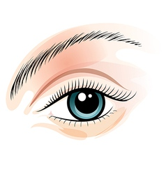 Female eye vector