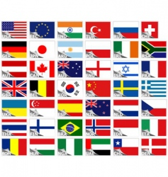Flags of the world set vector