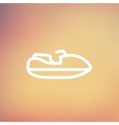 Speed boat thin line icon vector