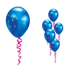Navy party balloon vector