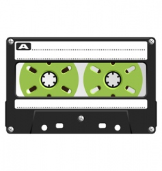 Audio cassette black transparent vector