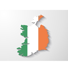 Ireland country map with shadow effect vector