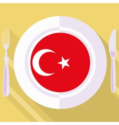 Kitchen of turkey vector