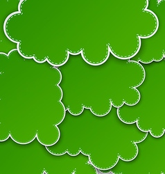 Paper green paper cloud background vector