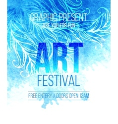 Art festival template poster vector
