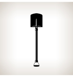 Silhouette of shovel vector