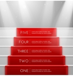 Five steps vector