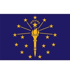 Indiana flag vector