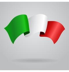 Italian waving flag vector
