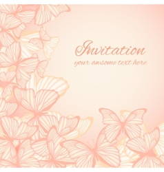 Invitation card template with hand drawn vector