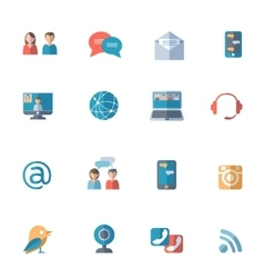 Social networks icons set vector