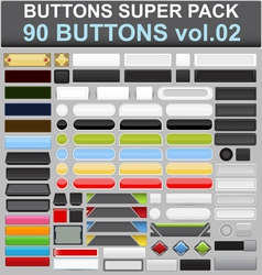 Buttons super pack 2 vector
