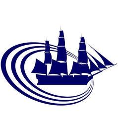 Sailing ship 15 vector