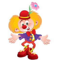 The cheerful clown vector