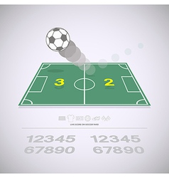 Live score on soccer yard vector