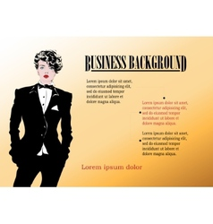 Beautiful businesswoman vector