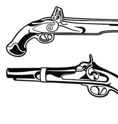 Antique pistols vector