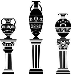 Greek vases vector