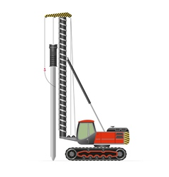 Pile driver vector