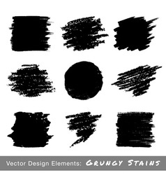 Set of hand drawn grunge backgrounds vector