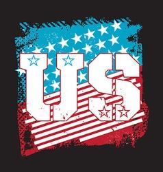 Grunge usa emblem vector