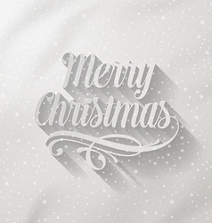 Merry christmas lettering with long shadow vector
