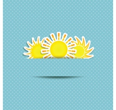 Sun symbol background vector
