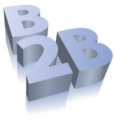 B2b ecommerce business symbol vector