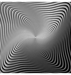 Design monochrome twirl movement background vector