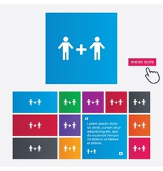 Couple sign icon male plus male gays vector