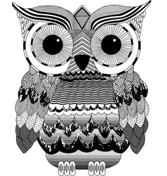 Owl print gothic fashion trend black white vector