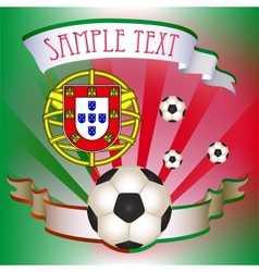 Football poster with portugal flag vector