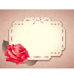 Retro card rose vector