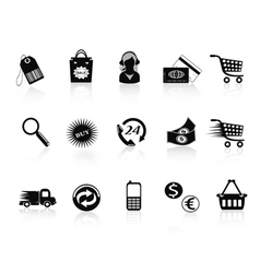 Commerce and retail icons set vector