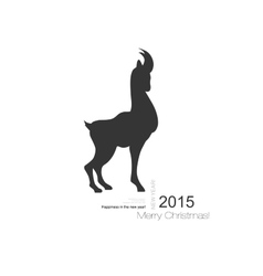Goat symbol with black profile silhouette of a vector