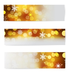 Set of christmas horizontal banners vector