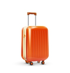 Travel suitcase realistic vector