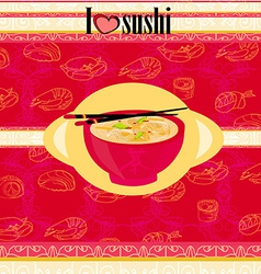 Template of sushi menu vector