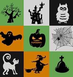 Halloween collection of icons vector