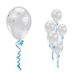 White party balloons vector