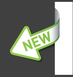 Sign new on the arrow vector