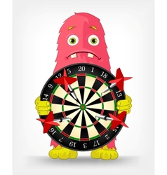 Funny monster darts vector