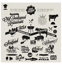 Restaurant design elements vector
