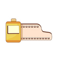 A roll of film vector