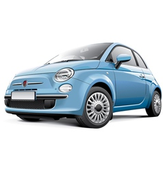 Italian city car vector