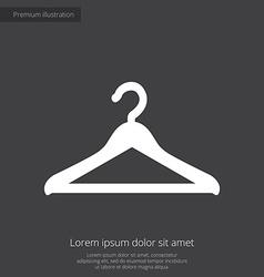 Hanger premium icon white on dark background vector
