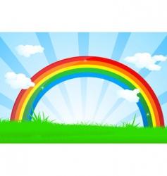 Vibrant rainbow vector